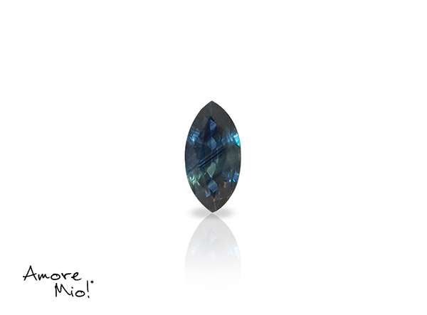 Zafiro corte Marquise  de 6X3 mm