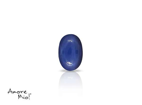 Zafiro corte Oval Cabuchon de 6X4 mm