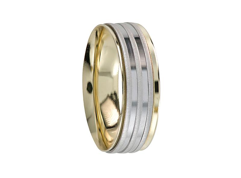 Unisex wedding band, confort, rotating (unitary price)