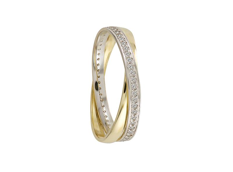 Unisex wedding band, with CZ (unitary price)