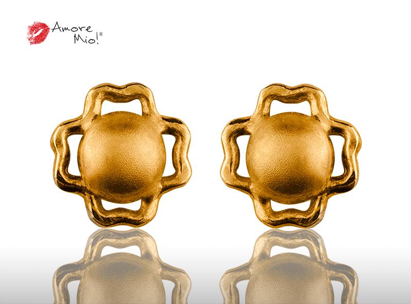 Aretes de oro de 14K