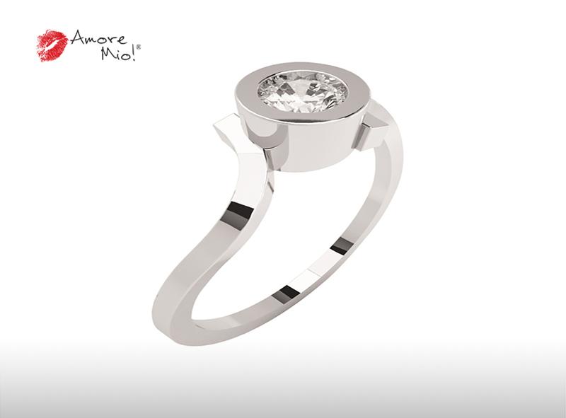 Montadura de oro de 14kt<br>Diamante  round de 0.26 quilates, Color-I,Claridad-SI1,Diamante Mejorado-None