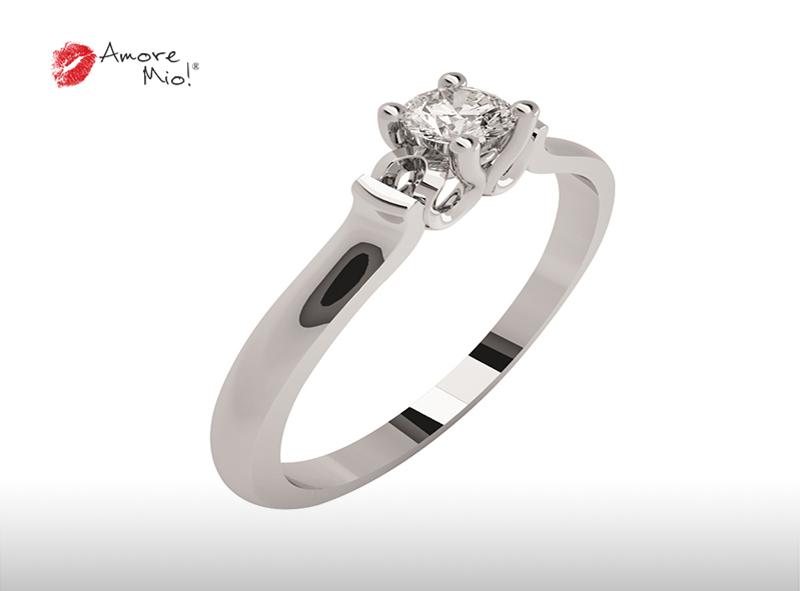 Montadura de oro de 14kt<br>Diamante  round de 0.16 quilates, Color-F,Claridad-VVS1,Diamante Mejorado-None