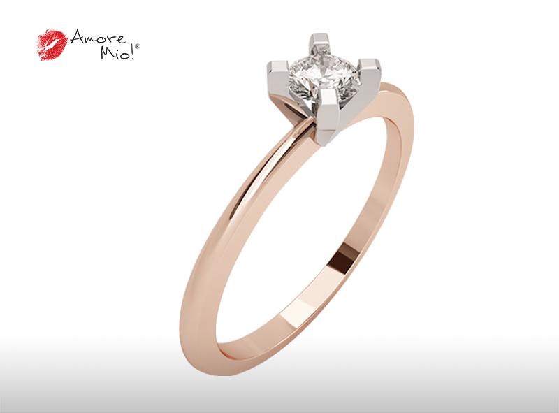 Montadura de oro de 14kt<br>Diamante  round de 0.40 quilates, Color-Pending,Claridad-N/A,Diamante Mejorado-None