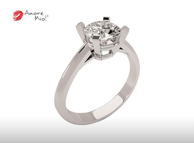 Montadura de oro de 14kt<br>Diamante  round de 0.94 quilates, Color-H,Claridad-VS1,Diamante Mejorado-None