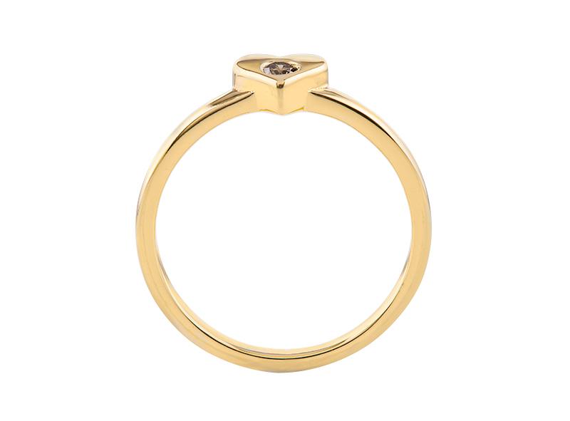 Anillo de compromiso de oro, con Diamond central de: 0.07 Puntos Color- J Claridad- VS1