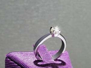 Anillo De Oro De 14kt, Con Diamante Central PRINCESS De: 0.20 Puntos Color- I Claridad- SI1