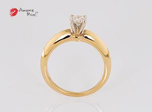 Anillo de compromiso de oro de 14k, con diamante central de: 0.41 Puntos Color- G Claridad- VS2