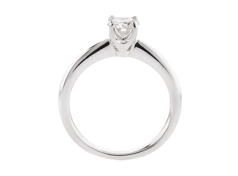 Anillo de compromiso de oro blanco de 14k<br>Diamante  round de 0.36 quilates, Color-L,Claridad-VS2,Diamante Mejorado-None
