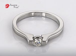 Anillo De Oro De 14kt, Con Diamante Central De: 0.18 Puntos Color-  G Claridad-  SI2
