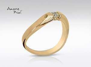 Anillo De Oro De 14kt, Con Diamante Central De: 0.16 Puntos Color-  F Claridad-  SI1