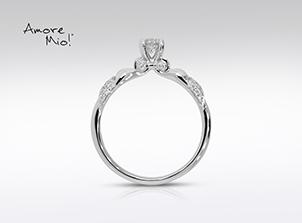Anillo de compromiso de oro blanco de 18k con un diamante de: 0.19 puntos Color- F Claridad- SI2