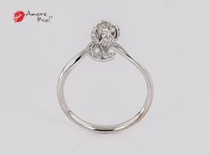 Anillo de compromiso de oro blanco de 18k con un diamante de: 0.25 puntos Color- I Claridad- SI2 (71/29)