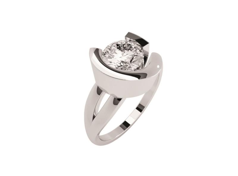 Montadura de oro de 14kt<br>Diamante  round de 0.70 quilates, Color-Black,Claridad-N/A,Diamante Mejorado-None
