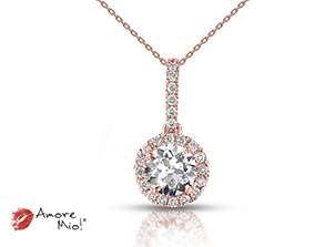 Dije de oro rosa de 18kt! con diamante<br>Diamante  round de 0.24 quilates, Color-D,Claridad-SI1,Diamante Mejorado-None