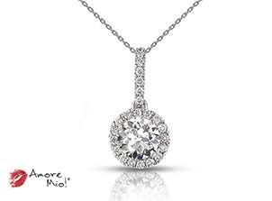Dije de platino<br>Diamante  round de 0.26 quilates, Color-I,Claridad-SI1,Diamante Mejorado-None