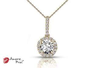 Dije de oro amarillo de 18kt! con diamante<br>Diamante  round de 0.26 quilates, Color-I,Claridad-SI1,Diamante Mejorado-None