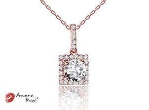 Dije de oro rosa de 18kt! con diamante<br>Diamante  round de 0.41 quilates, Color-E,Claridad-VS2,Diamante Mejorado-None