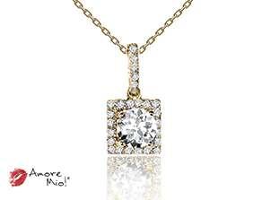 Dije de oro amarillo de 18kt! con diamante<br>Diamante  round de 0.57 quilates, Color-D,Claridad-SI2,Diamante Mejorado-Clarity Enhanced