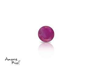 Ruby corte Round de 4 mm
