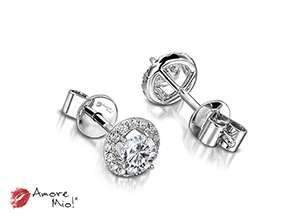 18kt White Gold Studs!! 1.00 to 1.25 cts.