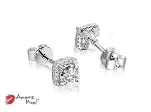 18kt White Gold Studs, Stone Capacity 0.25 to 0.40cts (each)