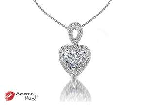 18kt white gold pendant!<br>0.34 Carat round Diamond, Color-Black,Clarity-I1,Treatment-None
