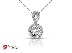 18kt white gold pendant!<br>0.38 Carat round Diamond, Color-Black,Clarity-I1,Treatment-None