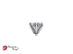 14k White Gold Head For: Round Diamond